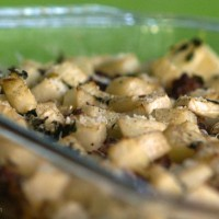 Kohlrabi Casserole with Sausage and Fresh Thyme