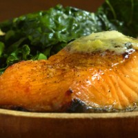 Broiled Salmon with Tarragon-Lemon Compound Butter Recipe
